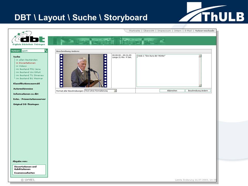 DBT \ Layout \ Suche \ Storyboard