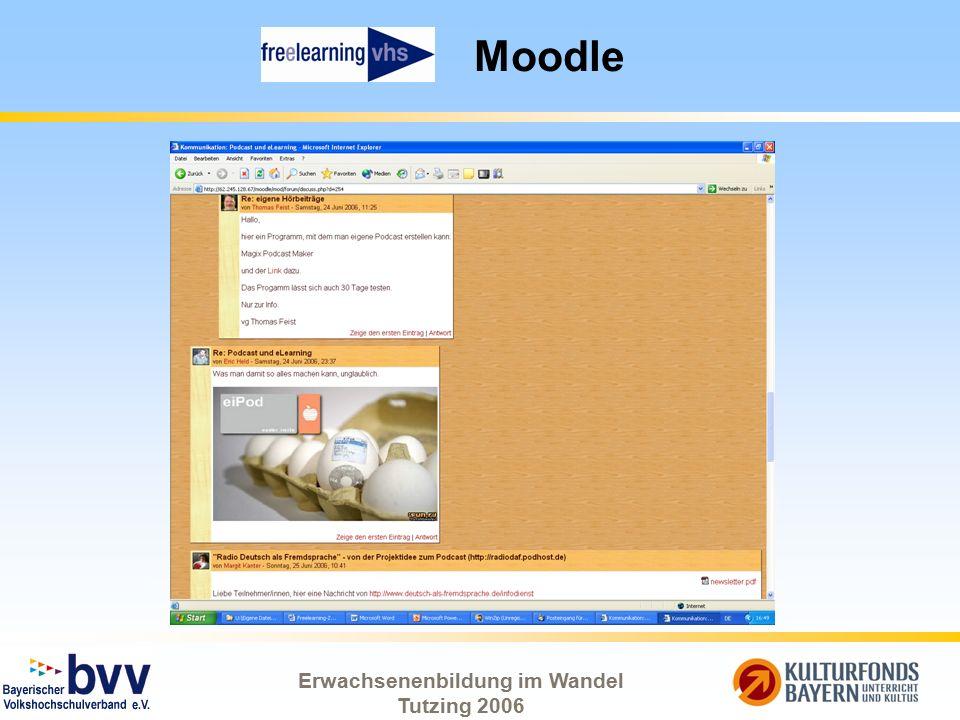 Erwachsenenbildung im Wandel Tutzing 2006 Moodle