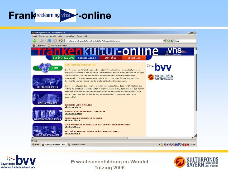 Erwachsenenbildung im Wandel Tutzing 2006 FrankenKultur-online