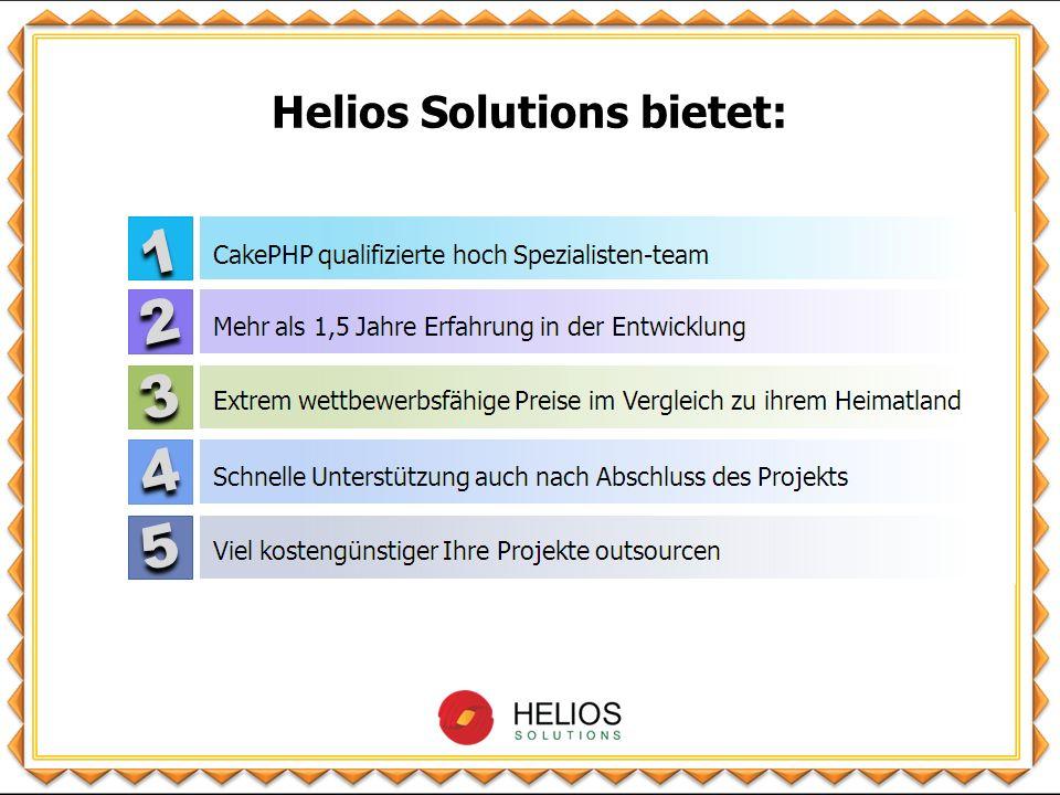 Helios Solutions bietet: