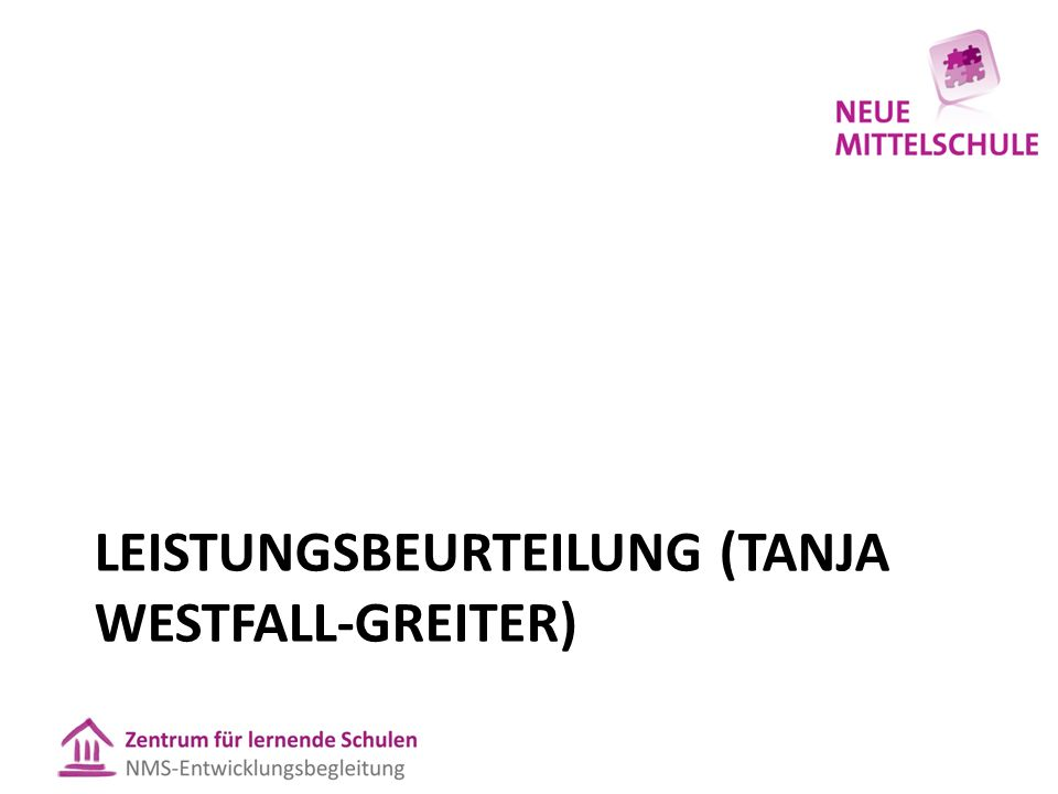 LEISTUNGSBEURTEILUNG (TANJA WESTFALL-GREITER)