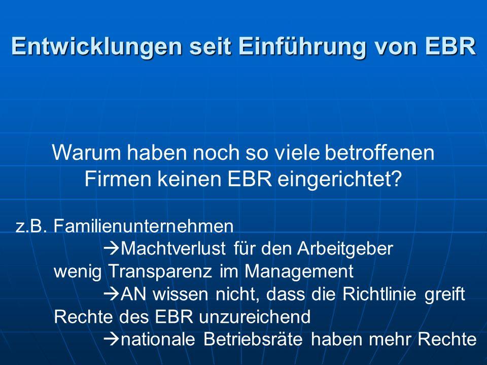 Warum haben noch so viele betroffenen Firmen keinen EBR eingerichtet.