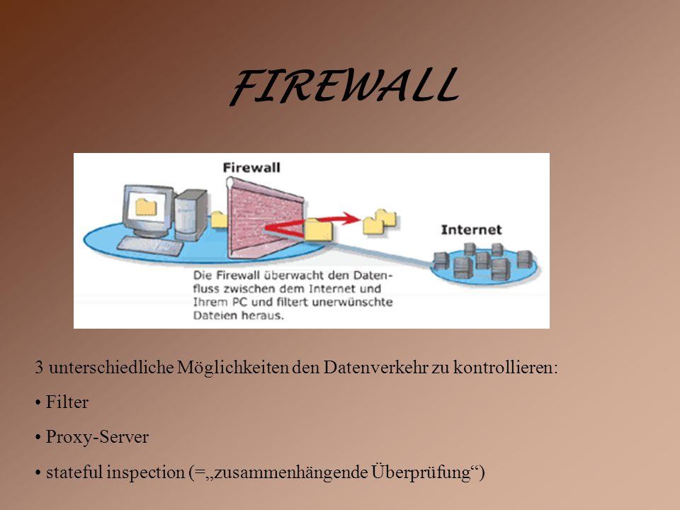 Wie man sich schützen kann Firewall Anti-Viren-Programme Anti-Spyware-Programme aufpassen was man sich im Internet so alles runter lädt!