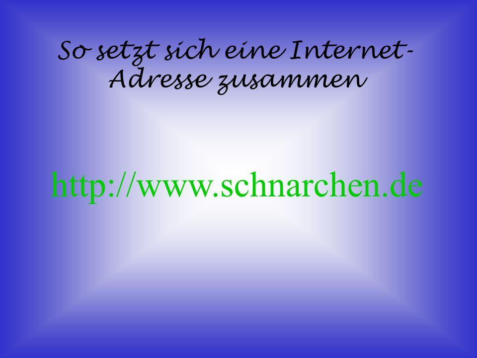 So funktioniert das Internet 1. Über den PC wählt man sich in das Internet ein 2. Die IP-Adresse 3. TCP Port 80 = WWW Port 25 = E-Mail Port 21 = FTP P