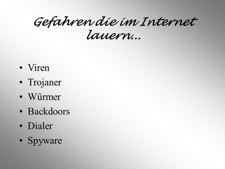 GEFAHREN IM INTERNET I Was es für Gefahren gibt und wie man sich schützen kann...