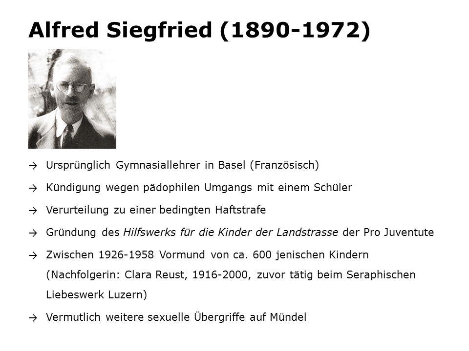 Alfred Siegfried (1890-1972) mit einem Mündel. Bild von Hans Staub (Bundesarchiv Bern).