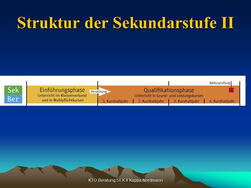 KTO Beratung SEK II Kappa Nordmann Struktur der Sekundarstufe II