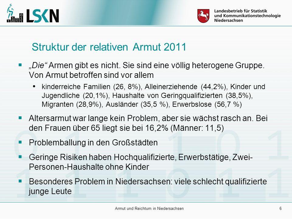 7 Regionalstruktur der Kinderarmut 2010