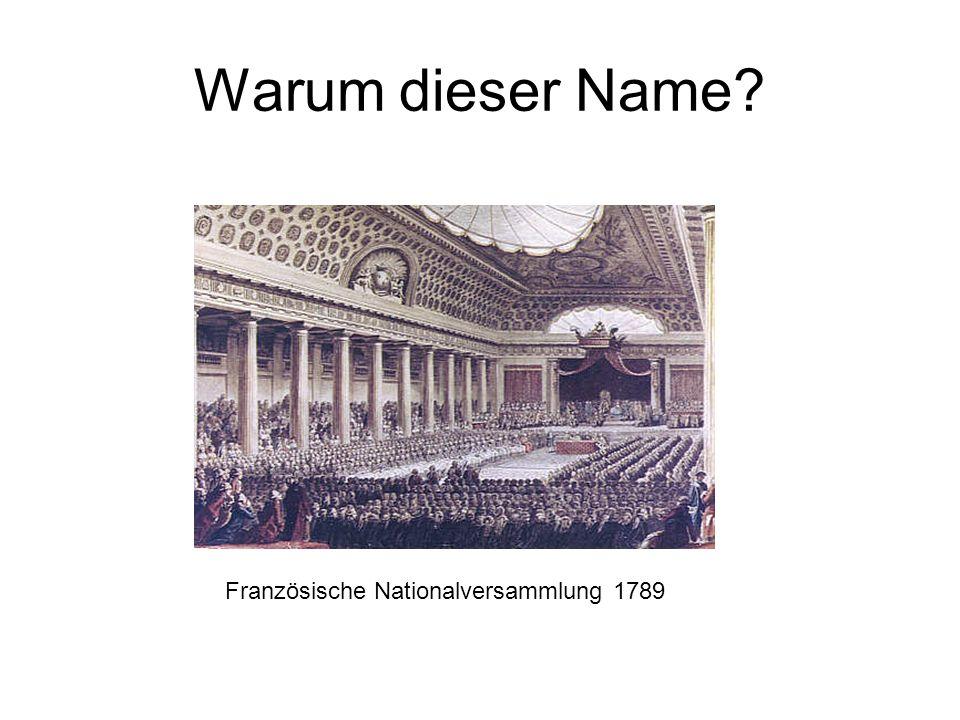 Warum dieser Name? Französische Nationalversammlung 1789