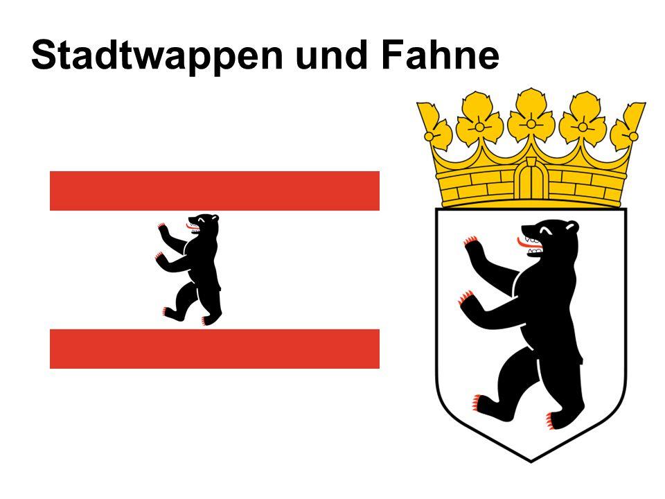 Stadtwappen und Fahne