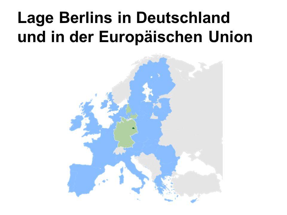 Lage Berlins in Deutschland und in der Europäischen Union