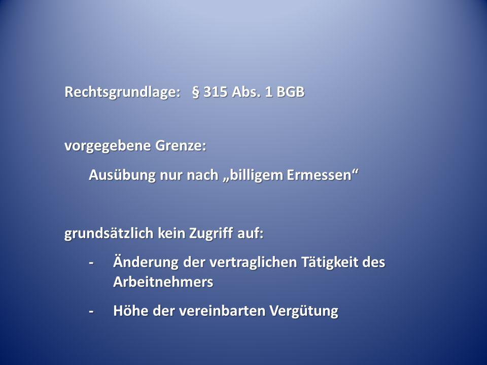 Rechtsgrundlage: § 315 Abs.
