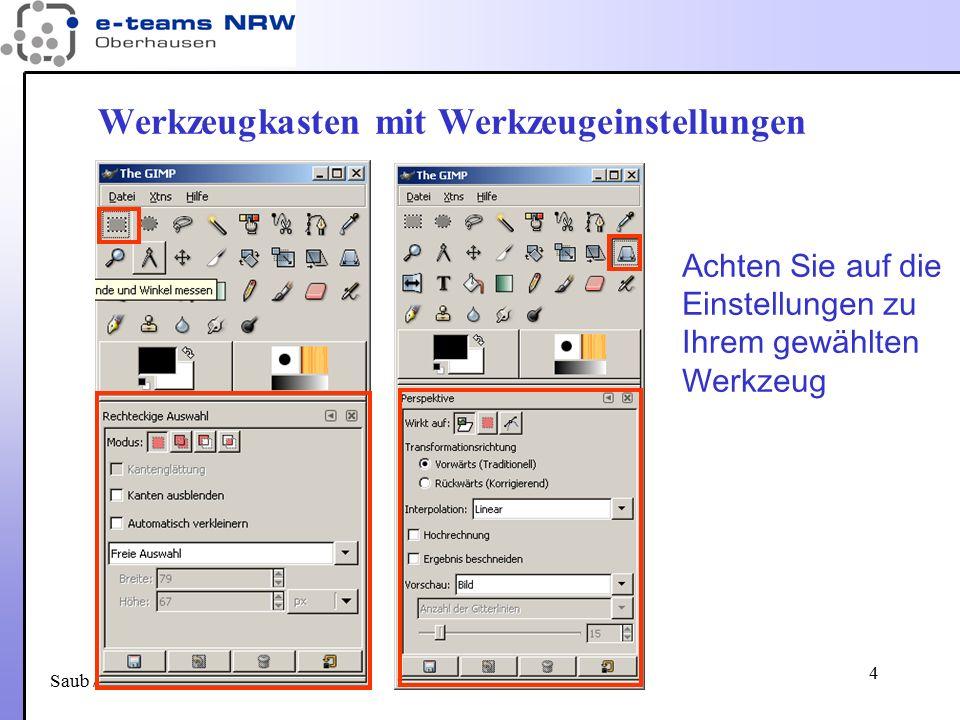 Saub / 29.11.06 25 Ebenenmasken (1) Weiß deckt darunter liegende Ebenen ab – macht also die Ebene als ganzes vollständig wirksam.