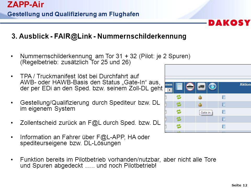 Seite 12 ZAPP-Air Gestellung und Qualifizierung am Flughafen 3.