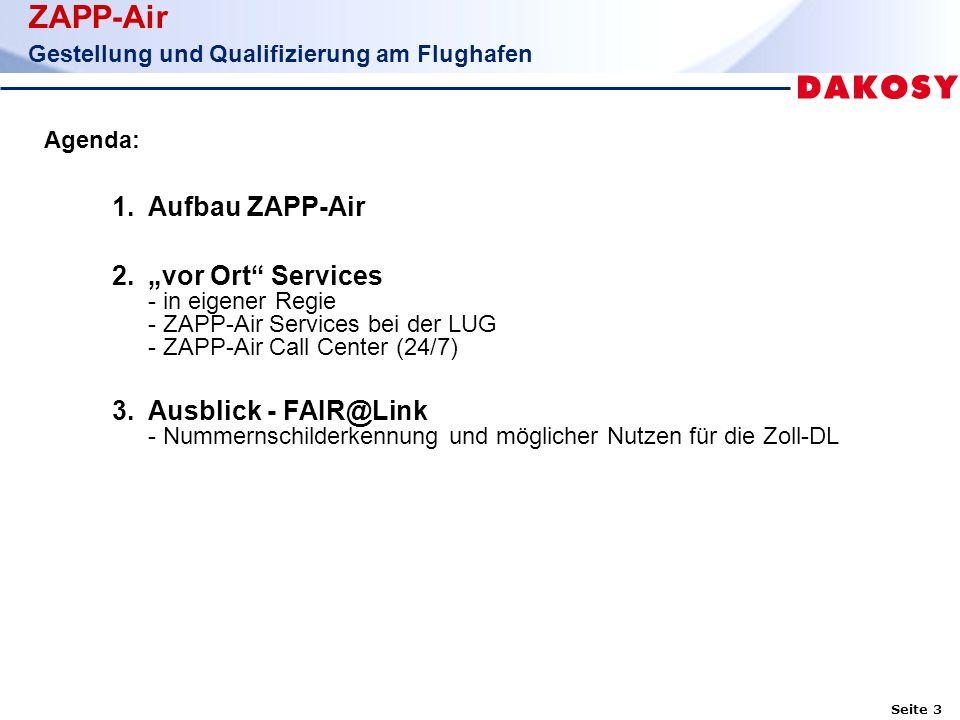 Seite 4 ZAPP-Air Gestellung und Qualifizierung am Flughafen 1.