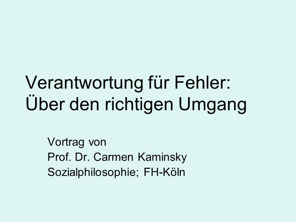Verantwortung für Fehler: Über den richtigen Umgang Vortrag von Prof.