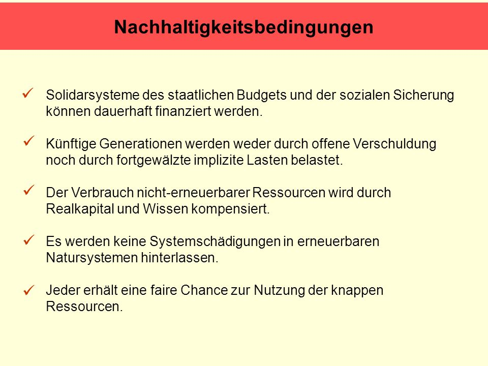 Solidarsysteme des staatlichen Budgets und der sozialen Sicherung können dauerhaft finanziert werden. Künftige Generationen werden weder durch offene