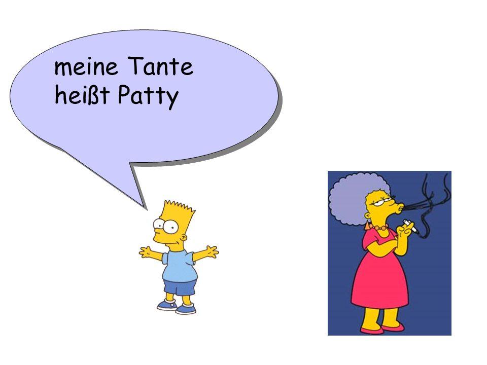 meine Tante heißt Patty