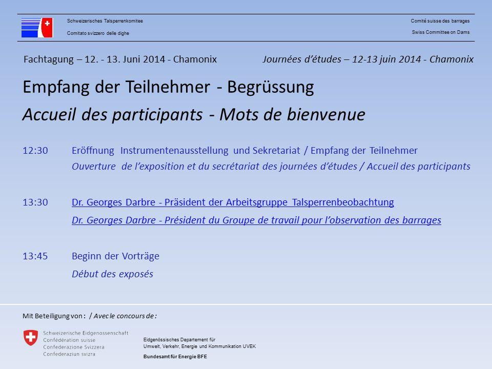 Fachtagung – 12.-13.Juni 2014 - Chamonix Vorträge 1.