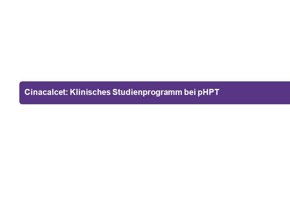 Cinacalcet: Klinisches Studienprogramm bei pHPT