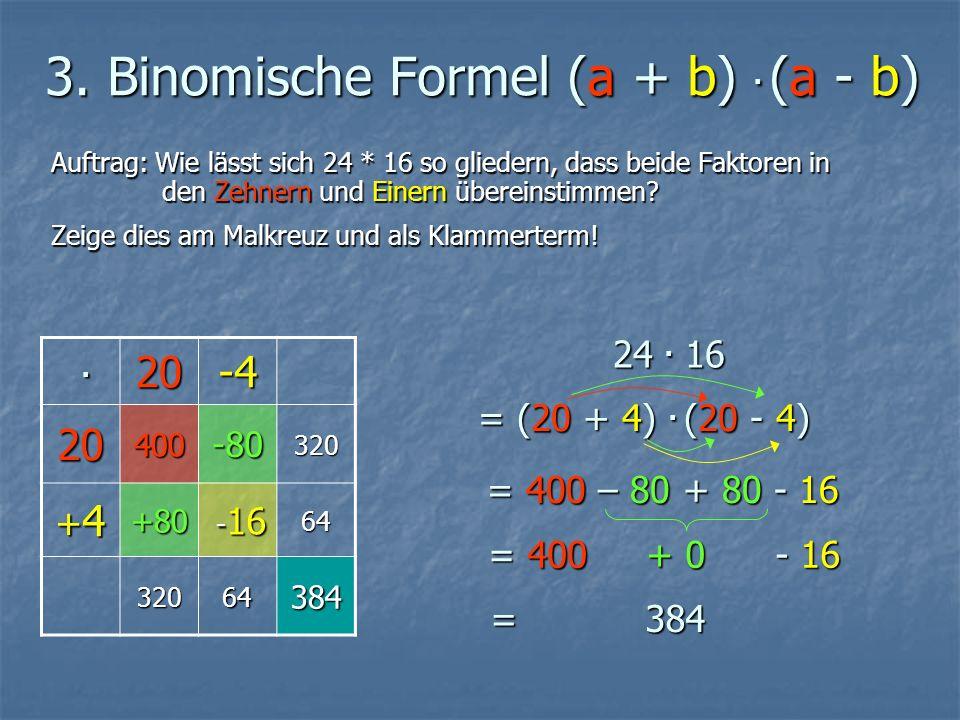 3. Binomische Formel (a + b).
