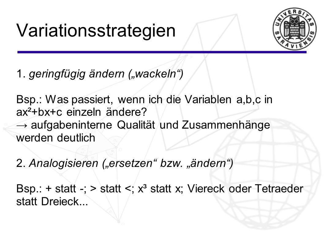 Variationsstrategien 1.