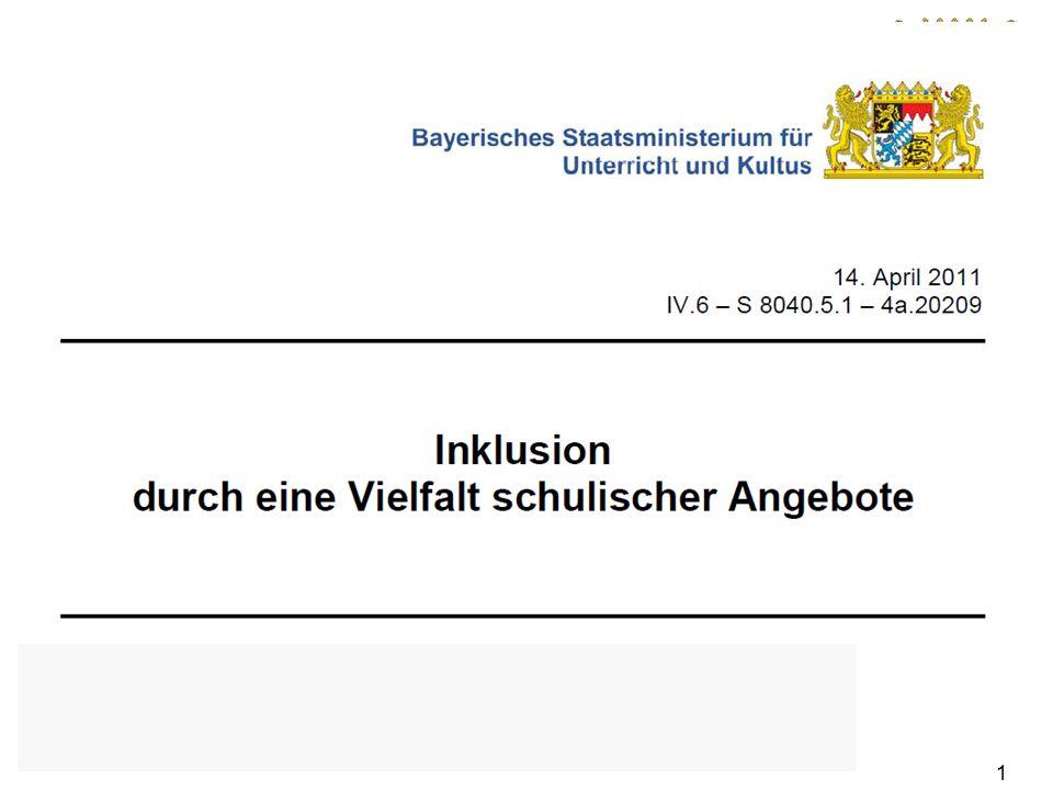 Bayerisches Staatsministerium für Unterricht und Kultus Gelingen kann der Prozess, wenn sich alle Beteiligten in Bayern mit Engagement und mit Wertschätzung für den anderen auf den Weg machen.