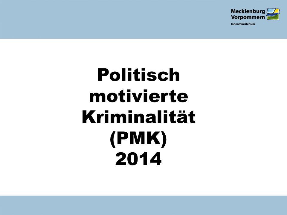 Politisch motivierte Kriminalität (PMK) 2014 Verfassungsschutzbericht 2010