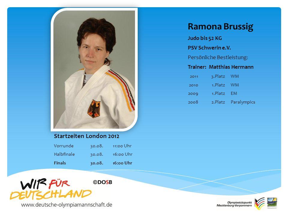 Ramona Brussig Judo bis 52 KG PSV Schwerin e.V.