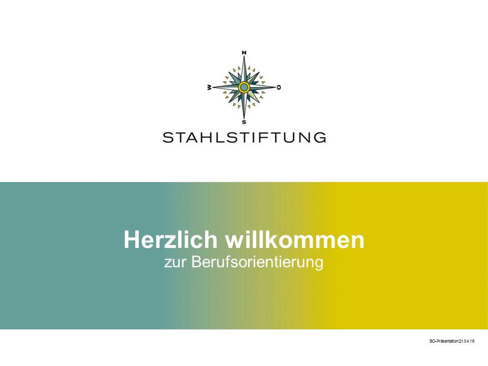 Herzlich willkommen zur Berufsorientierung BO-Präsentation/21.04.16