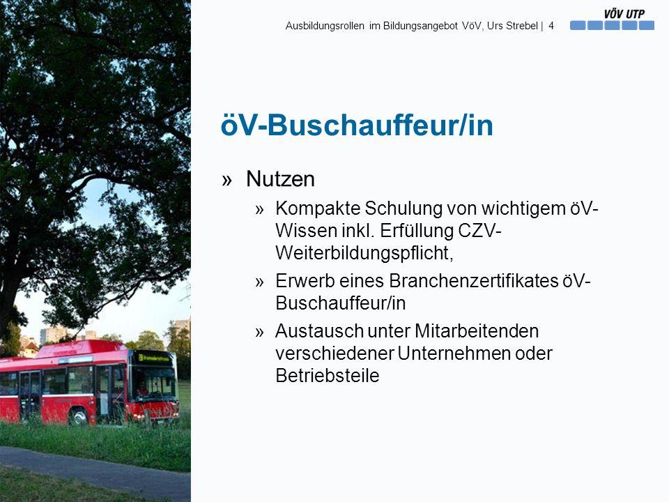 öV-Buschauffeur/in »Nutzen »Kompakte Schulung von wichtigem öV- Wissen inkl.