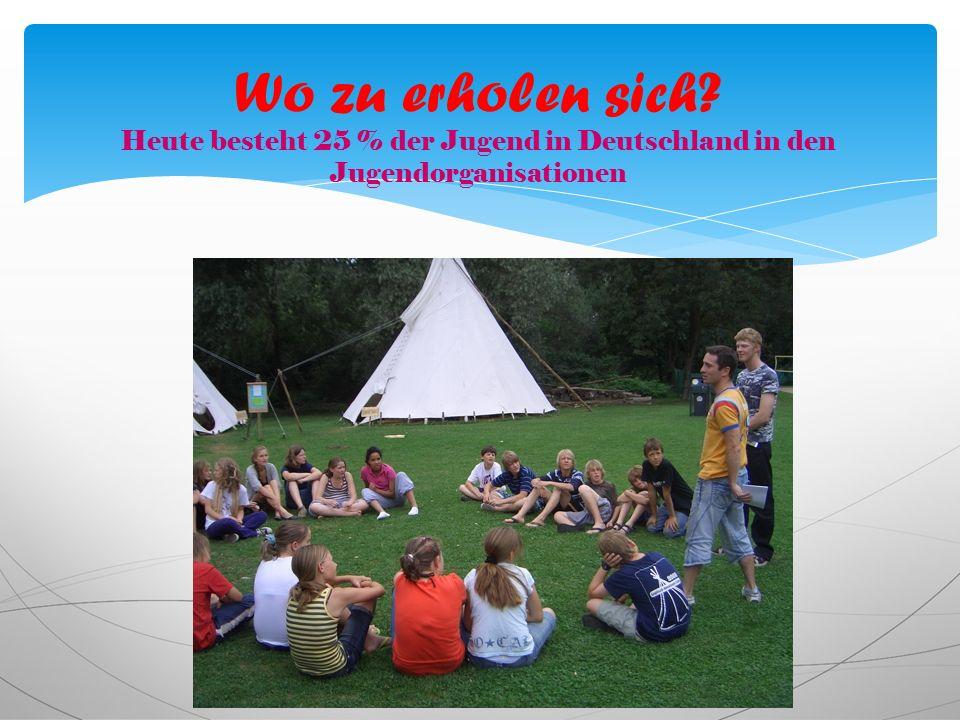 Wo zu erholen sich? Heute besteht 25 % der Jugend in Deutschland in den Jugendorganisationen
