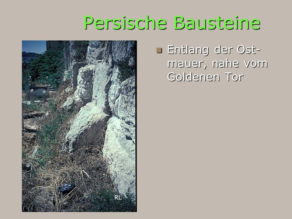 Persische Bausteine Entlang der Ost- mauer, nahe vom Goldenen Tor RL