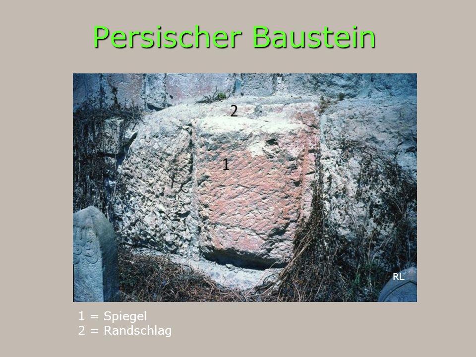 Persischer Baustein 1 = Spiegel 2 = Randschlag RL