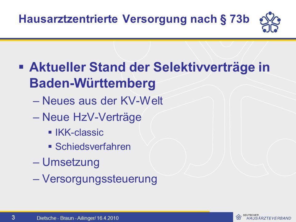 4 Dietsche - Braun - Ailinger/ 16.4.2010 KV Baden-Württemberg Bereinigung 2009 Einvernehmliche Einigung der Krankenkassen für 2009: Quartal 1 und 2/2009: Härtefallregelung -RLV- Fallwert der HzV- Ärzte nicht unter 80% der nicht HzV-Ärzte.