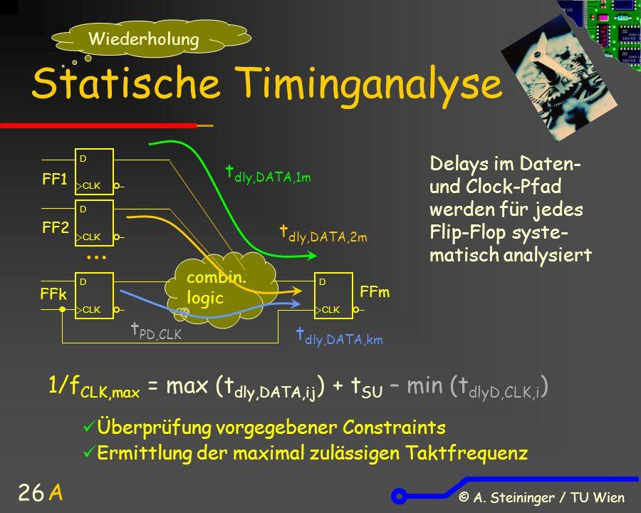 © A. Steininger / TU Wien 26 Statische Timinganalyse combin.