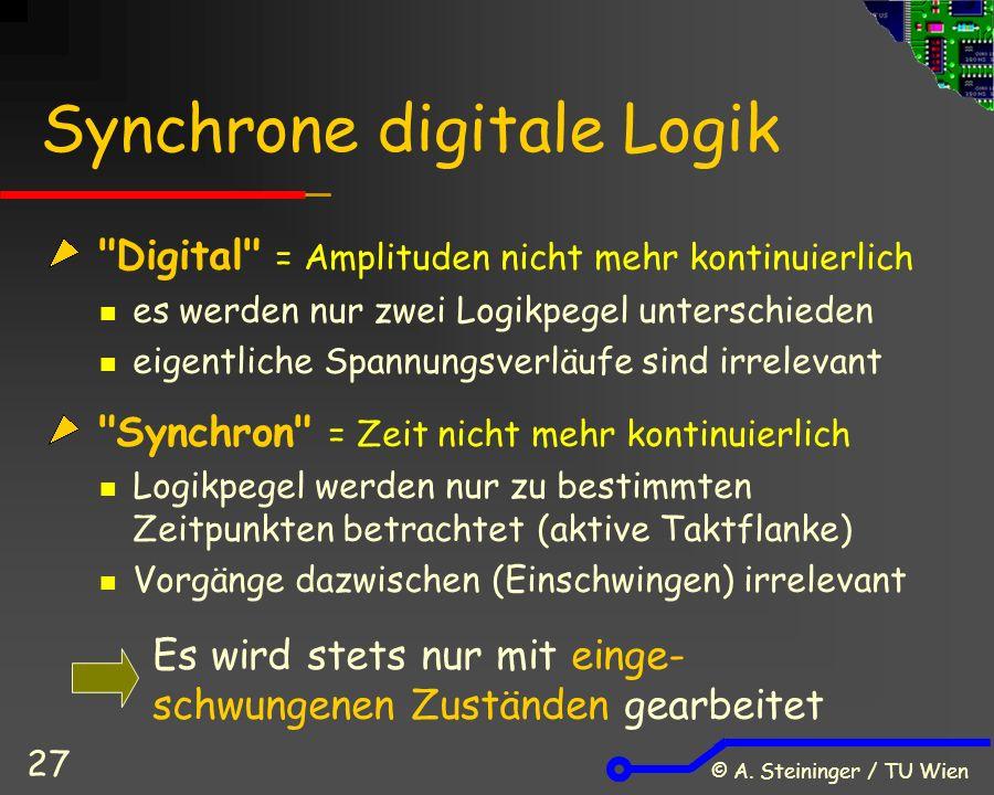 © A. Steininger / TU Wien 27 Synchrone digitale Logik