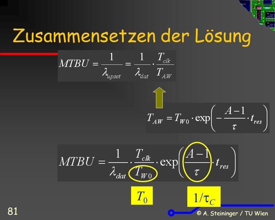 © A. Steininger / TU Wien 81 Zusammensetzen der Lösung T0T0   C