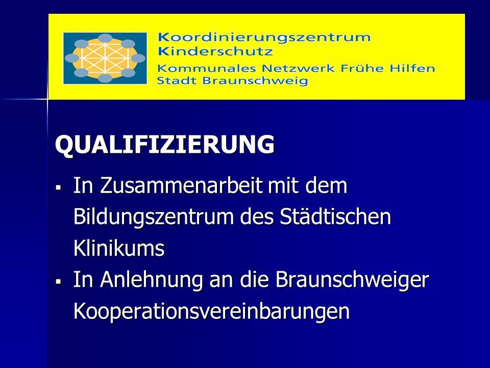 QUALIFIZIERUNG  In Zusammenarbeit mit dem Bildungszentrum des Städtischen Klinikums  In Anlehnung an die Braunschweiger Kooperationsvereinbarungen