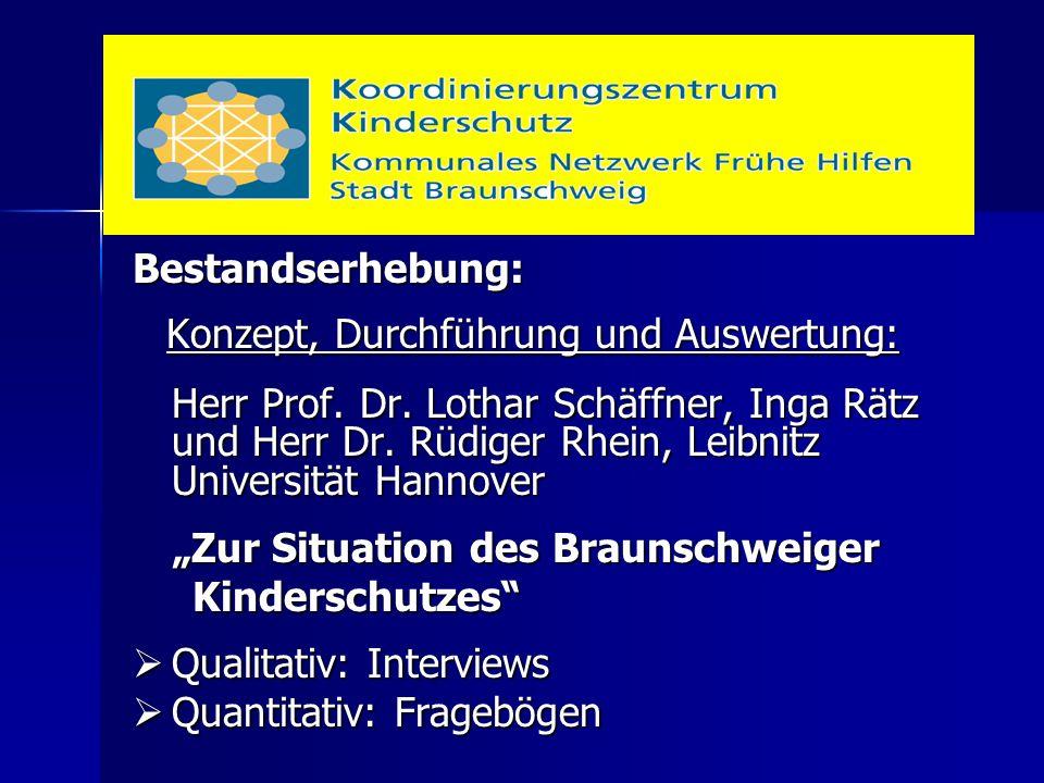 Bestandserhebung: Konzept, Durchführung und Auswertung: Konzept, Durchführung und Auswertung: Herr Prof. Dr. Lothar Schäffner, Inga Rätz und Herr Dr.