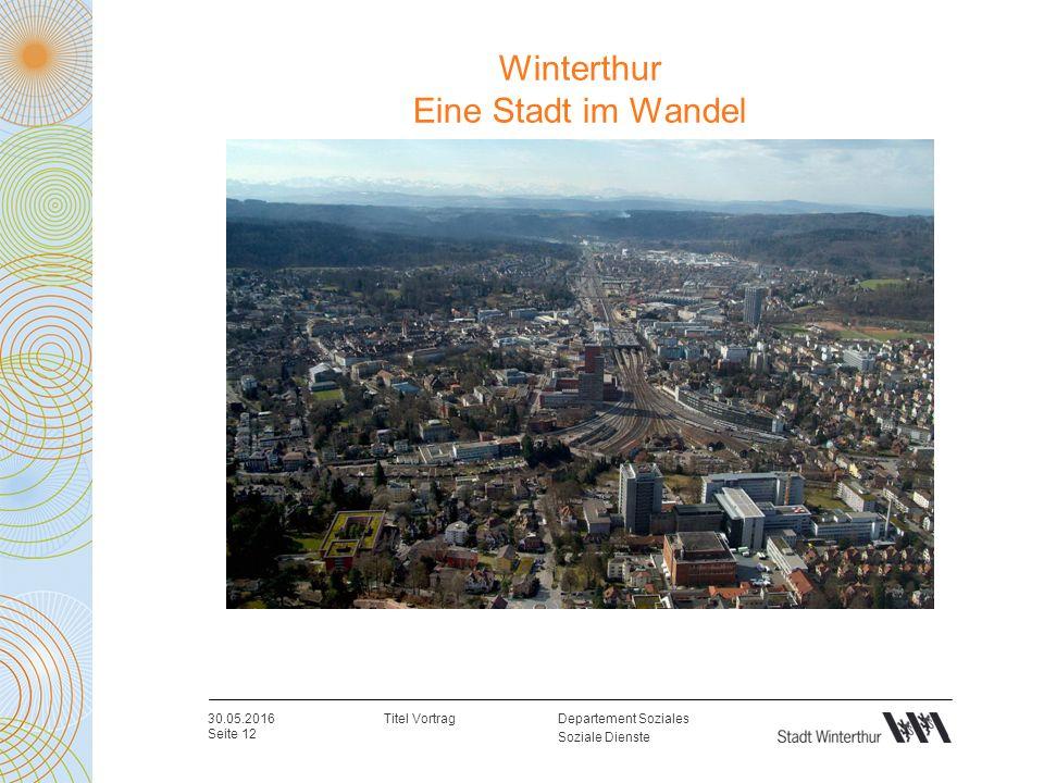 Departement Soziales Soziale Dienste Winterthur Eine Stadt im Wandel 30.05.2016 Seite 12 Titel Vortrag