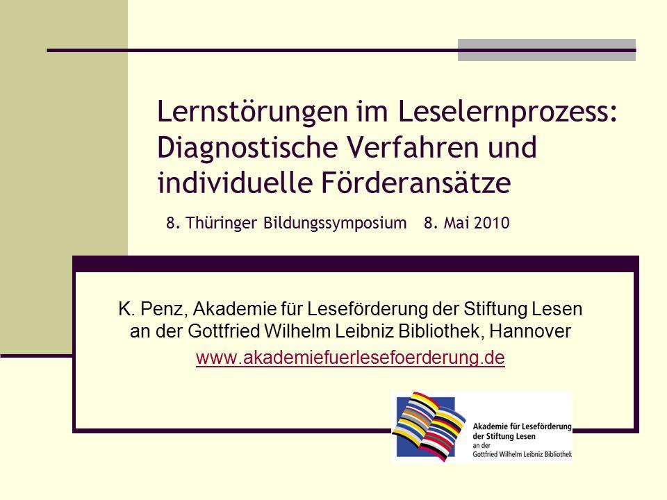 Lernstörungen im Leselernprozess: Diagnostische Verfahren und individuelle Förderansätze 8.