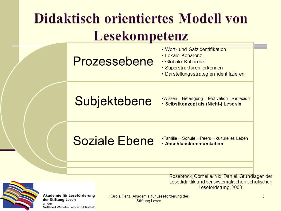 Karola Penz, Akademie für Leseförderung der Stiftung Lesen 24 ILeA