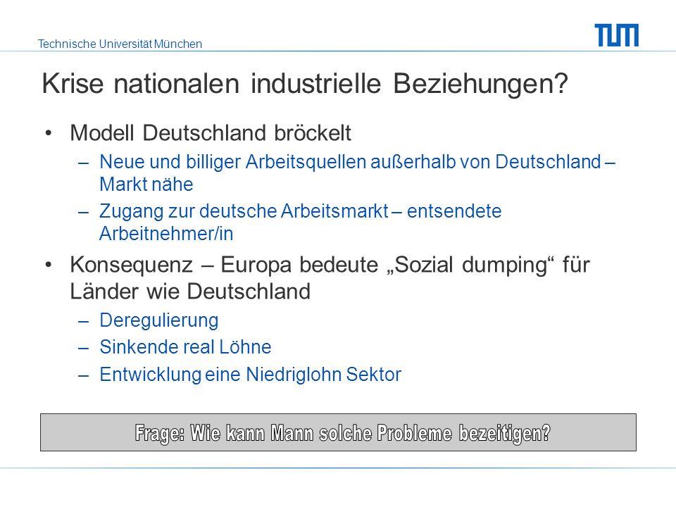 Technische Universität München Europäische Betriebsrat