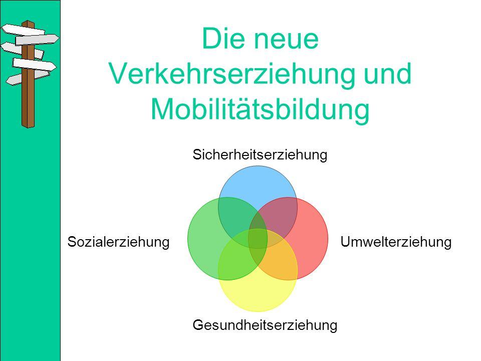Die neue Verkehrserziehung und Mobilitätsbildung Sicherheitserziehung Sozialerziehung Gesundheitserziehung Umwelterziehung