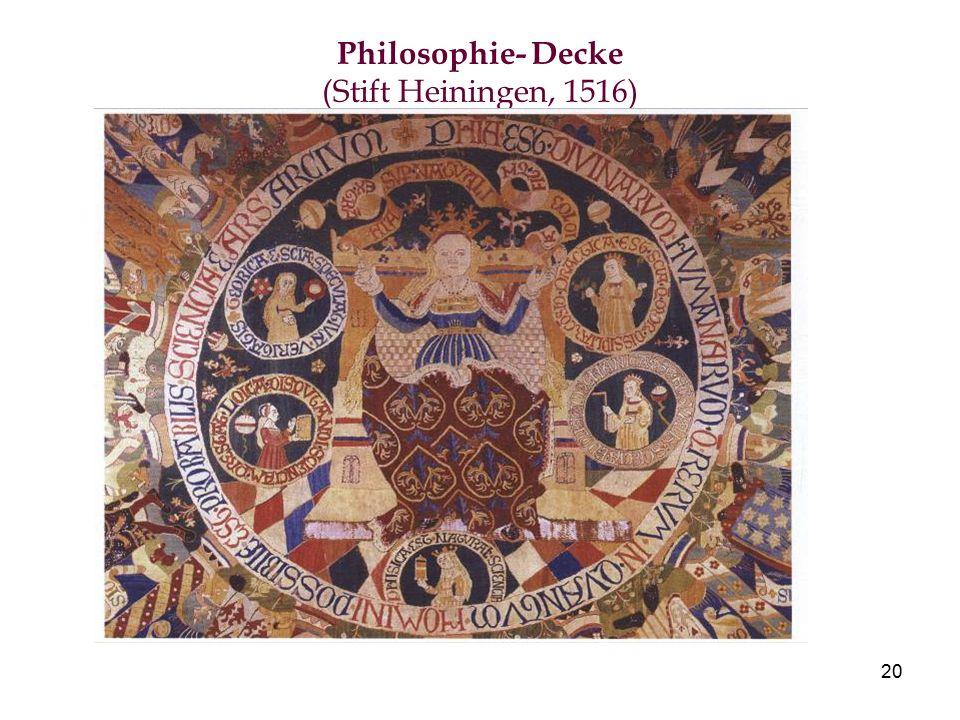 20 Philosophie- Decke (Stift Heiningen, 1516)