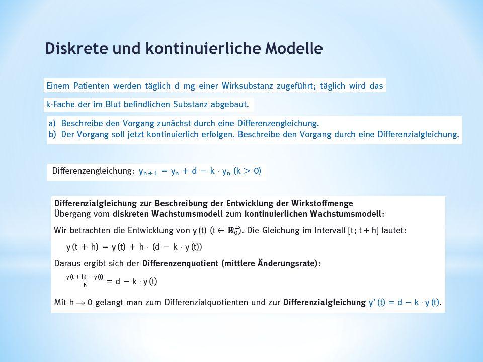 Diskrete und kontinuierliche Modelle
