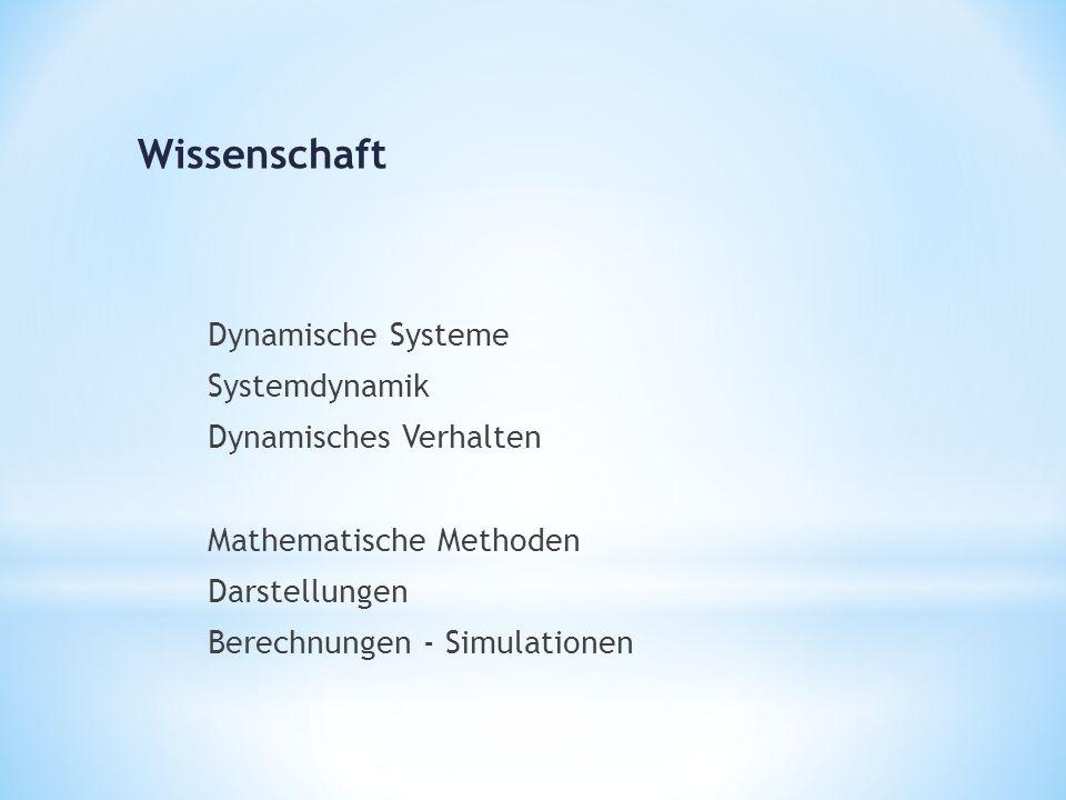 Dynamische Systeme Systemdynamik Dynamisches Verhalten Mathematische Methoden Darstellungen Berechnungen - Simulationen Wissenschaft