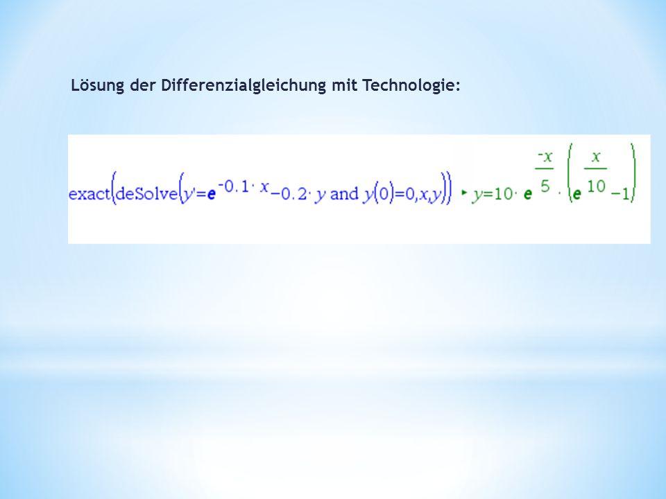Lösung der Differenzialgleichung mit Technologie: