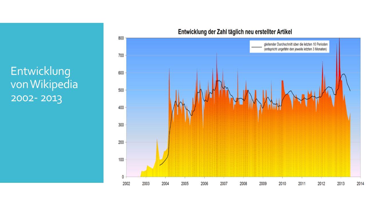 Entwicklung von Wikipedia 2002- 2013
